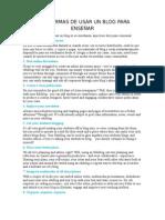 Diez Formas de Usar Un Blog Para Enseñar