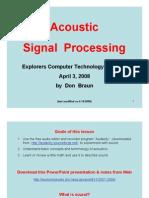 AcousticSignalProc