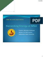 Harvesting Energy at MSU-Final Presentation