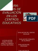Ambitos de Evaluacion en Los Centros Educativos