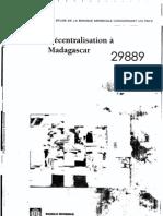 Décentralisation à Madagascar (Banque mondiale - 2004)