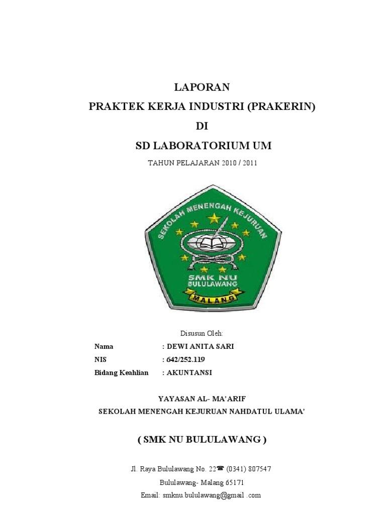 Contoh Laporan Prakerin Smk Jurusan Akuntansi Pdf Kumpulan Contoh Laporan