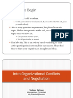 Inter-Organizational Conflicts and Negotiation