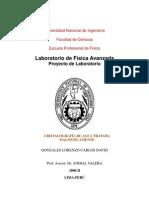 CRISTALOGRAFÍA DE AGUATRATADA MAGNETICAMENTE- Carlos David Gonzales Lorenzo