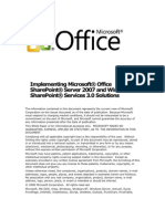 Implementing Moss and Windows Share Point Services Solutions