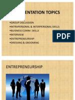 Presentation Entrepreneurship