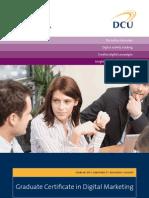 DCU Graduate Certificate in Digital Marketing Factsheet