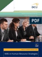 DCU MBS in Human Resource Strategies Factsheet