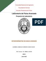 INTERFERÓMETRO DE MACH-ZHENDER - Carlos Gonzales Lorenzo