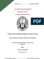 Fabricación de Películas Delgadas por Dip-Coating- Carlos David Gonzales Lorenzo