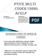 Adaptive Multi Rate Coder Using ACLP (2)