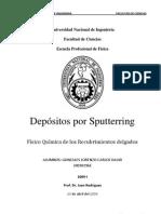 Depósitos por Sputterring-