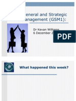 General and Strategic Management, By Dr Kevan Williams