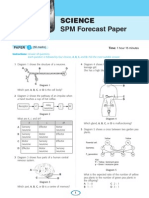 Science SPM Forecast Papers