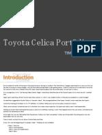 Toyota Celica Portfolio New