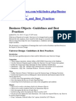 Business Objects - Guidelines and Best Practices