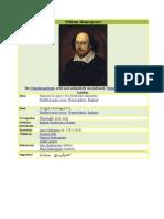 William Shakespeare- Biodata