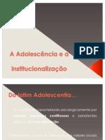 A adolescência e a institucionalização