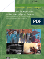 Mieux former la population active pour préparer l'avenir - La transformation de l'enseignement post-fontamental à Madagascar (World Bank - 2009)