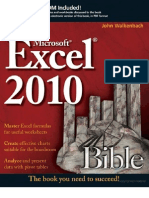 Excel 2010 Bible by John Walk en Bach