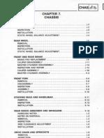 Yamaha Tenere 3YF Service Manual Chapter 7 - Chassis