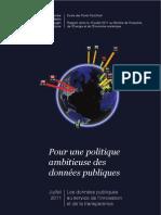 Pour une politique ambitieuse des données publiques - Ecole des Ponts ParisTech - Rapport Données Publiques 2011