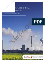 Indian Steel Coal Outlook Sample Product 3