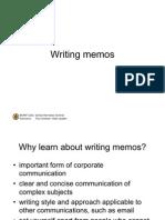 Writing Memos