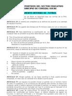 i Juegos Deportivos Del Sector Educativo Municipio de Corozal Sucre
