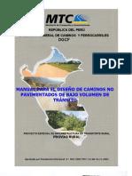Manual para el Diseño de Caminos No pavimentados de Bajo Volumen de Tránsito