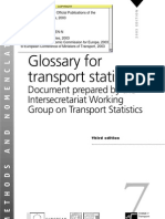 Glossary for Transport Statistics