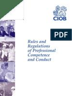 CIOB Code of Conduct