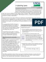 USDA Food Allergen Labeling Factsheet - August 2006