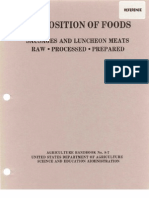 USDA Handbook 8 - Composition of Foods (Sausages and Luncheon Meats)