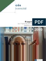 Rapport annuel de l'Universtité des Antilles et de la Guyane 2010