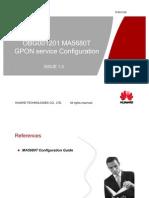 5OBG001205 MA5680-T GPON Service Configuration