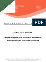 Reglas Europeas Para Infractores Menores de Edad Sometidos a Sanciones o Medidas 2010