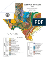 Geologic Map of Texas, 1992