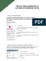 10 Trucos Para Aumentar La Velocidad de Windows Vista