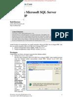 MSSQLServer Dengan PHP