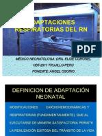 Adaptaciones respiratorias del RN 2011 Luis Angel
