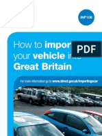 Importing Vehicle