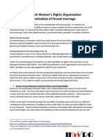 IKWRO Position Paper on Criminal is at Ion of Forced Marriage