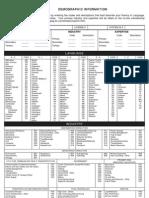 Demographic Information Form