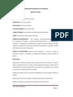 Informe Coordinación Adm-Financiera Junio 2011