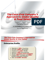 The Coca Cola Company s Approach to Global Quality and Food Safety (1)