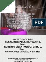 palatabilidad y digestibilidad en gatos (felis Domesticus)