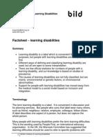 Factsheet Learning Disabilities