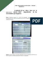 Procedimiento Como Particionar Un Disco Duro y instalar Windows Xp