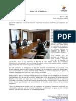Ecuador y España colaborarán en políticas públicas contra la violencia de género. Foto70